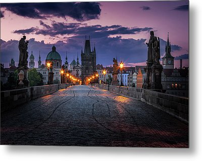 Charles Bridge, Prague, Czech Republic Metal Print by Nico Trinkhaus