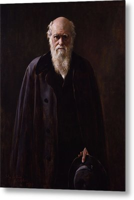 Charles Darwin - By John Collier Metal Print by War Is Hell Store