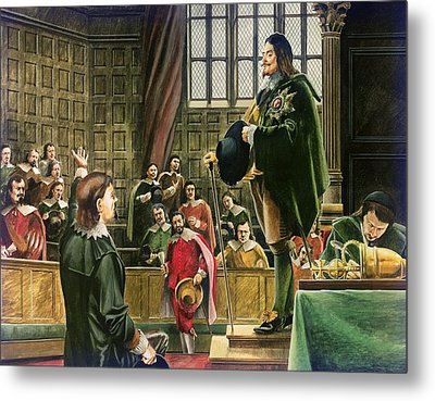 Charles I In The House Of Commons Metal Print by English School