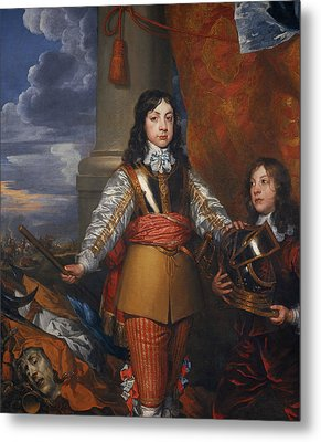 Charles II, 1630 - 1685. King Of Scots 1649 - 1685. King Of England And Ireland 1660 - 1685 Metal Print by William Dobson