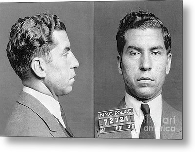 Charles Lucky Luciano Metal Print by Granger