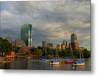 Charles River Boats Esplanade Metal Print by Toby McGuire
