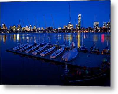 Charles River Boats Metal Print by Toby McGuire