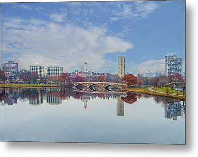 Charles River - Boston Massachusetts Metal Print by Bill Cannon