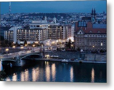 Charles University   Intercontinental Hotel Prague_tonemapped_tonemapped Metal Print by Isaac Silman