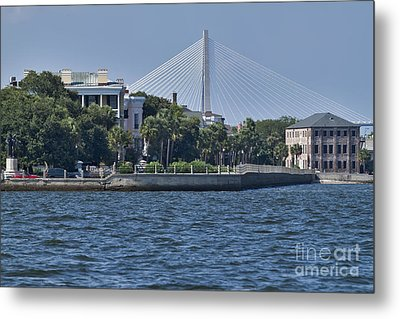 Charleston Battery Row And Bridge  Metal Print by Dustin K Ryan