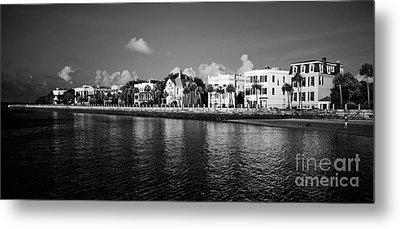 Charleston Battery Row Black And White Metal Print by Dustin K Ryan