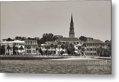 Charleston Battery South Carolina Sepia Metal Print by Dustin K Ryan