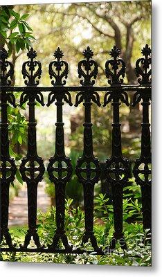 Charleston Fence Metal Print