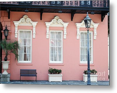 Charleston Historical District - The Mills House - Charleston Architecture  Metal Print by Kathy Fornal
