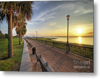 Charleston Sc Waterfront Park Sunrise  Metal Print by Dustin K Ryan