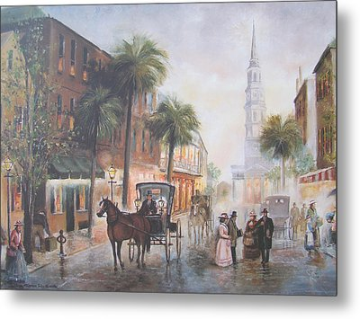 Charleston Somewhere In Time Metal Print by Charles Roy Smith