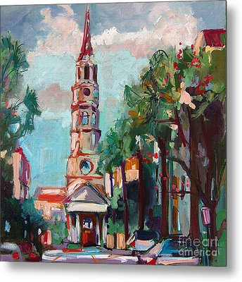 Charleston St Phillips Church Metal Print by Ginette Callaway