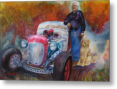 Charlie And Bella's Ride Metal Print