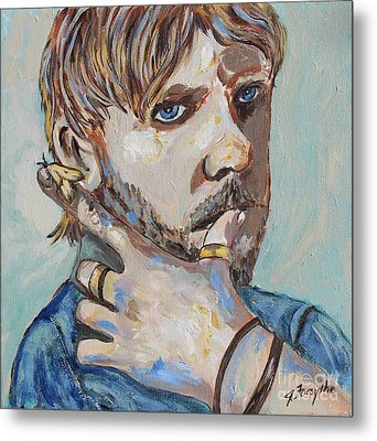 Charlie And The Moth Metal Print by Jeanne Forsythe