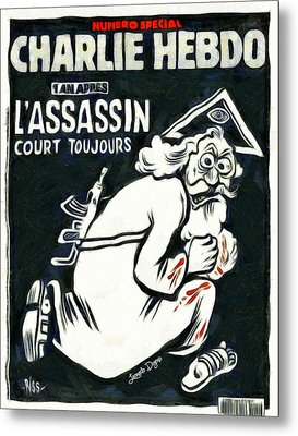 Charlie Hebdo One Year Later - Da Metal Print