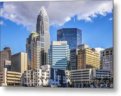 Charlotte Downtown City Buildings Photo Metal Print by Paul Velgos