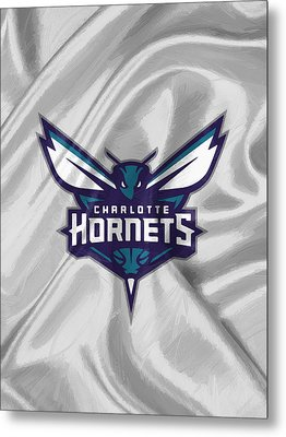 Charlotte Hornets Metal Print by Afterdarkness