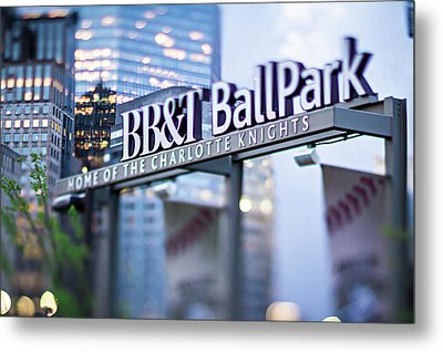Charlotte Nc Usa  Bbt Baseball Park Sign  Metal Print