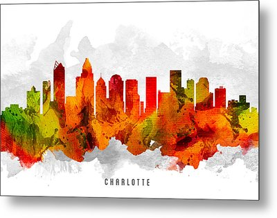 Charlotte North Carolina Cityscape 15 Metal Print