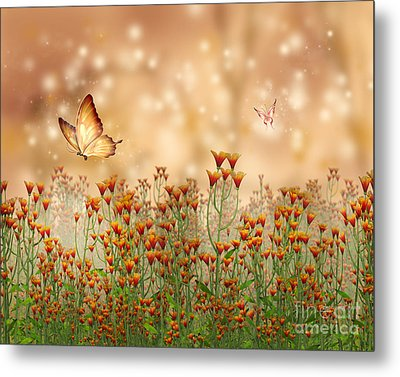 Charmed Blossoms Metal Print