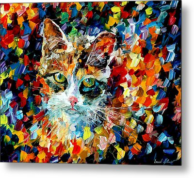 Charming Cat Metal Print by Leonid Afremov