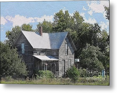 Charming Country Home Metal Print