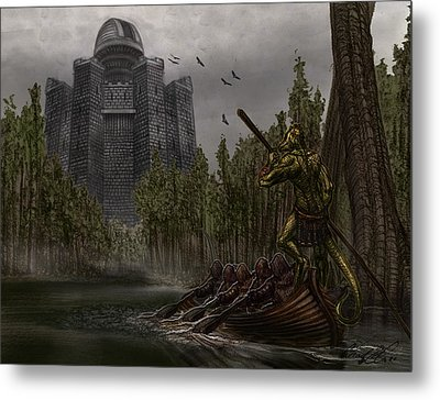 Charon Conveys The Party To Fate Metal Print by Chad Glass