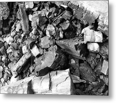 Charred II Metal Print by Anna Villarreal Garbis