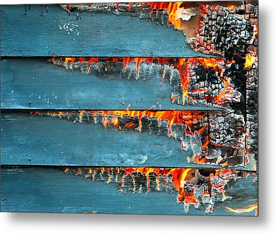 Charred Remains Metal Print by Todd Klassy