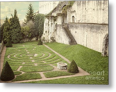 Chartres Labyrinth Garden Metal Print by Juli Scalzi