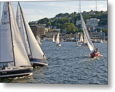 Chase Boats Metal Print by Tom Dowd