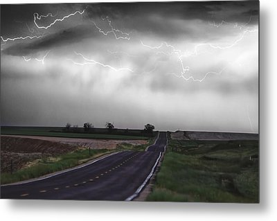 Chasing The Storm - Bw And Color Metal Print by James BO  Insogna