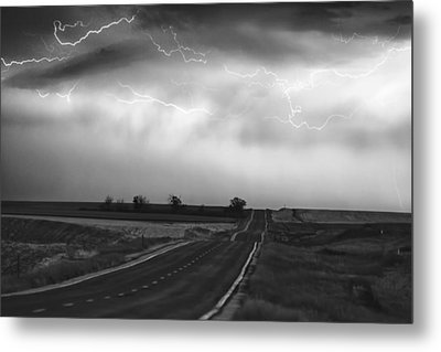Chasing The Storm - County Rd 95 And Highway 52 - Colorado Metal Print