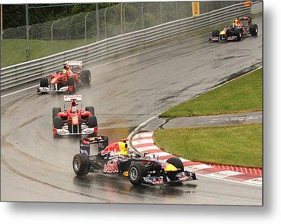 Chasing Vettel Metal Print