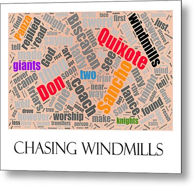 Chasing Windmills Metal Print