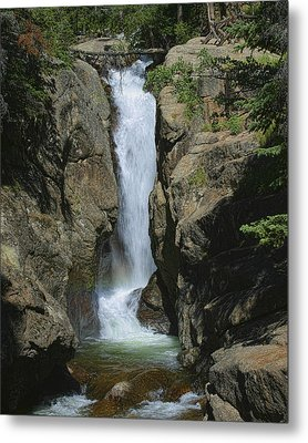 Chasm Falls Off Old Fall River Road Metal Print