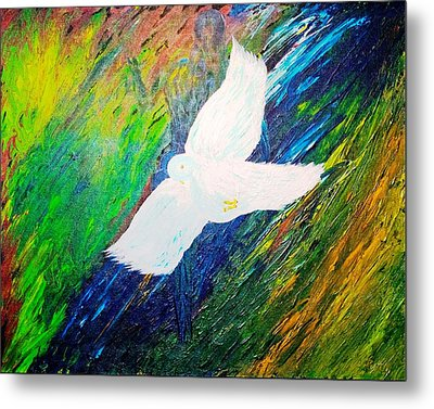 Metal Print featuring the painting Chaste by Piety Dsilva