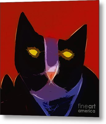 Chat Noir Metal Print