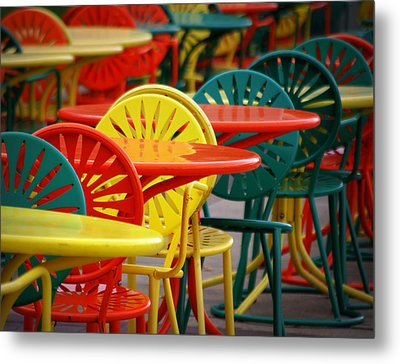 Chat Room Metal Print by Linda Mishler