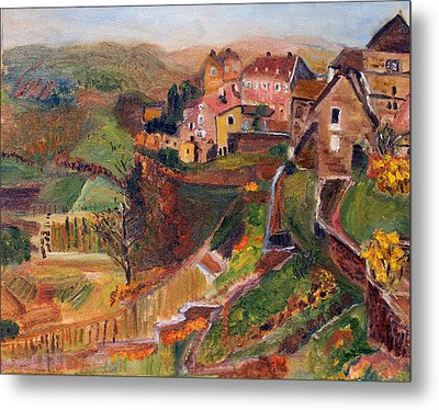 Chateau Chalon Metal Print