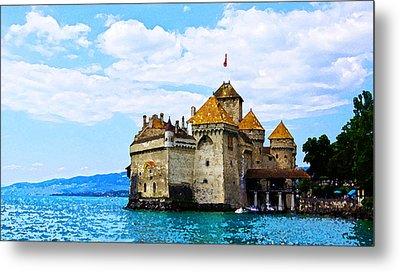 Chateau De Chillon, Veytaux, Switzerland Metal Print by Farah