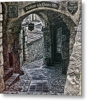 Chateau De La Chevre D'or Metal Print by Tom Prendergast