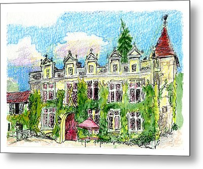 Metal Print featuring the painting Chateau De Maumont by Tilly Strauss
