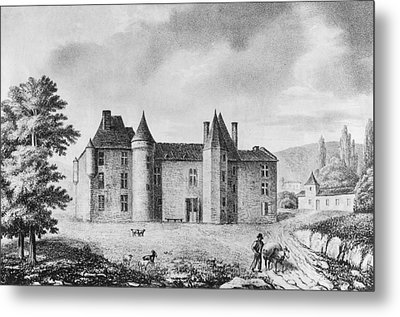 Chateau De Montaigne Metal Print