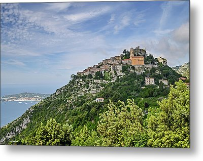 Metal Print featuring the photograph Chateau D'eze On The Road To Monaco by Allen Sheffield