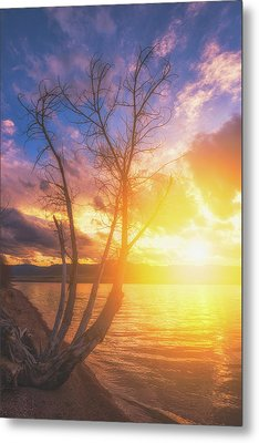 Metal Print featuring the photograph Chatfield Lake Sunset by Darren White