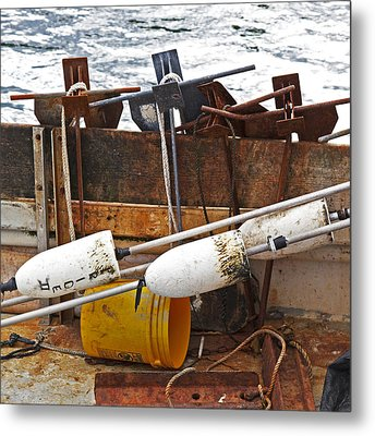 Chatham Fishing Metal Print by Charles Harden