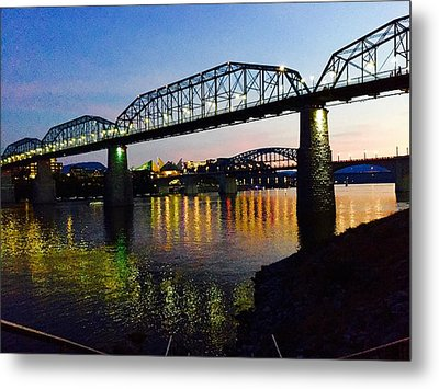 Chattanooga Nites Metal Print by Steven Lebron Langston