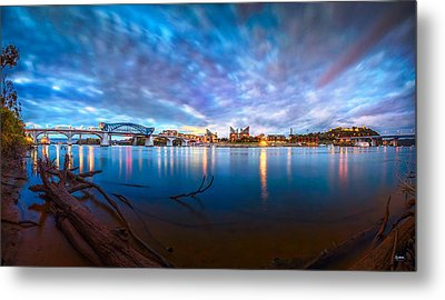 Chattanooga Riverfront At Dawn  Metal Print by Steven Llorca